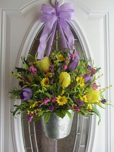 Spring Bucket Wreath