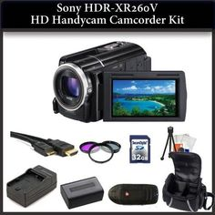 Sony HDR-XR260V HD Handycam Camcorder Kit. Package Includes: HDR-XR260V Camcorder, 3 piece Filter Kit(UV-CPL-FLD), Extended Life Replacement Battery, Rapid Travel Charger, 32GB Memory Card, Memory card Reader, Mini HDMI Cable, Table Top Tripod, LCD Screen Protectors, Cleaning Kit & Large Carrying Case - http://yourperfectcamera.com/sony-hdr-xr260v-hd-handycam-camcorder-kit-package-includes-hdr-xr260v-camcorder-3-piece-filter-kituv-cpl-fld-extended-life-replacement-battery