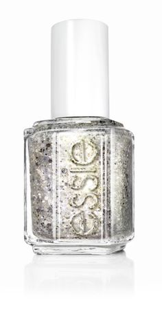 'hors d'oeuvres,' a platinum gold nail polish with a touch of iridescent silver glitter.