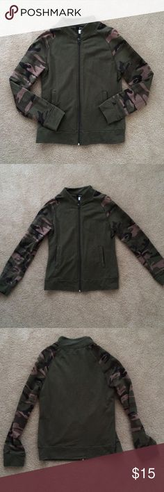 BDG Camo Jacket Lightweight camo jacket by BDG. Size small. Zips up in the front. Has two side pockets. Gently worn, but in perfect condition Urban Outfitters Jackets & Coats