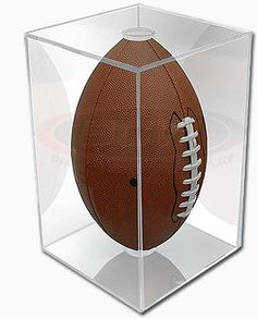 NFL NCAA BallQube Football Holder Sports Memorabilia Display Case for sale online Sports Memorabilia Display, Football Memorabilia, Nfl Store, Plastic Display Cases, Football Signs, Bears Football, Man Of The House, Slide Design, Antiques