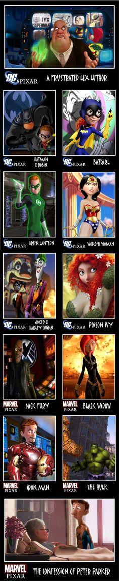 Superhero Movies Given to Pixar: