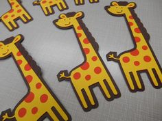 Giraffes  5 inches  Cardstock Die Cuts for by MyThreeSonsByKristin, $3.00