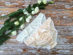 Set of Cream Frosting and Peach Fizz Satin by 1LuckySewandSew