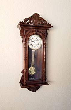 Here's another beautifully restored vintage parlor clock that has just been added to The Clock Guys Etsy #etsy shop: Vintage / Antique 31-day Chiming Pendulum Wall Clock, Parlor Clock - Professionally Restored - Mechanical, Key Wind Clockwork - warranty    http://etsy.me/2iAV0p2   #clock #vintage #antique #chiming #mechanical #theclockguys #vintageclock #antiqueclock #restoredantiques #restoredclock #wallclock #parlorclock #clock #wallclock #mantelclock #pendulumclock #barrister #Jauch…