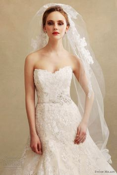 eve of milady fall 2013 eve muscio couture 4298 strapless wedding dress bodice