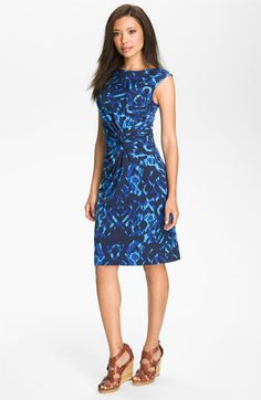 Chaus Print Twist Jersey Dress available at #Nordstrom