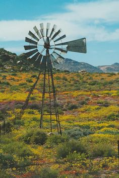 Windmill In South Africa but it looks like New Mexico South Afrika, Old Windmills, Out Of Africa, Water Tower, Old Barns, Places Of Interest, Le Moulin, Countries Of The World, Beautiful Places