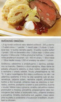 Svíčková Beef, Food, Meat, Essen, Meals, Yemek, Eten, Steak