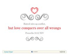 Proverbs 10:12 NIV Bible Verse About Love #NIVBible #Scripture