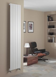 The Myson Decor vertical modern radiator is available in three sizes, all 2000mm high. The Myson Decor can fit into very tight spaces as the narrowest width is only 455mm (model 6V10200), the next size is 605mm (8V10200) and the widest model is the 755mm (10V10200), and as the valve connections are at the bottom opposed to the side no extra space is required for the valves. Radiator heat output rating tested at delta 50 degrees centigrade. 10 year warranty. Prices from £216.46!