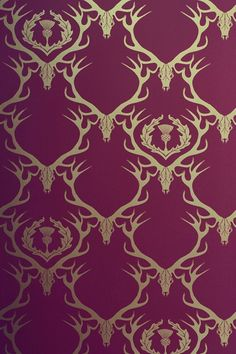 Deer Damask Wallpaper - Homewares and Home Furnishings - EasyLiving.co.uk (houseandgarden.co.uk)