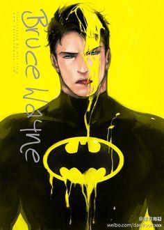 Color serial 05 Art Print by Hai-ning - X-Small Superman X Batman, Batman Art, Batman Robin, Batman Arkham, Nightwing, Batwoman, Dc Comics, Damian Wayne, Gotham City