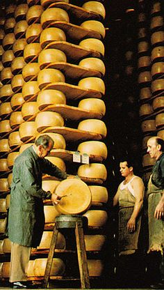 Parmigiano reggiano...I wonder how much I could eat from one of these wheels in one sitting...seriously!!!