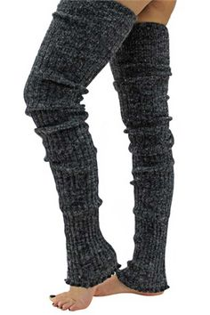 Dancers will surely love these super long cable knit leg warmers. They are 39 inches long & made of 70% Acrylic & 30% Nylon blend. The extra length is ideal for someone who wants full leg coverage fro