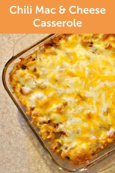 With a topping mixture of cheddar and pepper jack cheese, this Chili Mac and Cheese Casserole recipe is great for serving up on a chilly fall night.