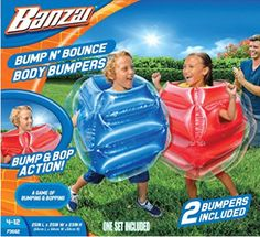Bump N Bounce Body Bumpers 2 Included by Banzai Inflatable Bouncers Outdoor Toys for sale online Fun Outdoor Games, Backyard Games, Outdoor Toys, Backyard Toys For Kids, Inflatable Bouncers, Vacuum Sealer, Top Toys, Thing 1 Thing 2, Toys