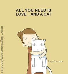 40 Funny Doodles For Cat Lovers and Your Cat Crazy Lady Friend I Love Cats, Cute Cats, Funny Cats, Crazy Cat Lady, Crazy Cats, Kitten Baby, Funny Doodles, Image Chat, Cat Quotes
