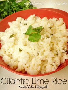 Cilantro Lime Rice {Costa Vida Copycat} on MyRecipeMagic.com