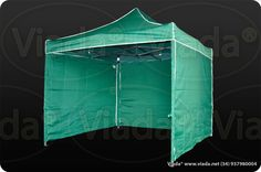 Carpa plegable color verde 3x3 con paredes #carpa #carpaplegable #carpaplegablebarata http://viada.net/tienda/carpas-plegables