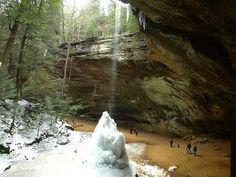 Ash Cave Falls in Ohio