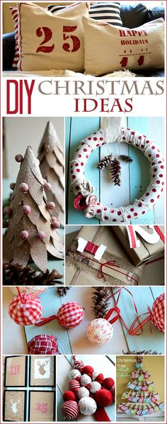 DIY CHRISTMAS IDEAS .So many wonerful DIY project in one place