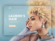 Hairdresser website header