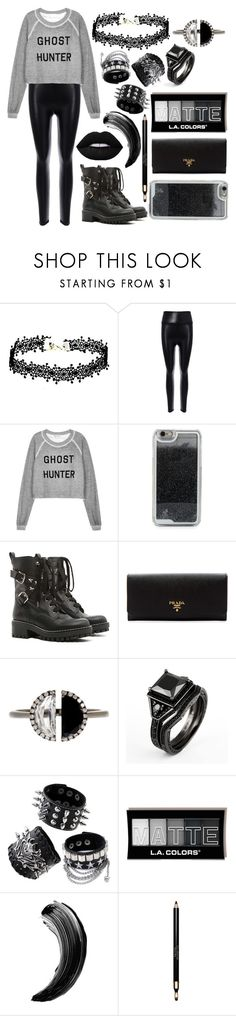 """""""Ghost hunter"""" by aw032717 ❤ liked on Polyvore featuring Wildfox, LMNT, RED Valentino, Prada, Bony Levy and Clarins"""