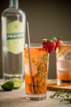 Strawberry Thyme Gin