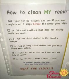 How to clean my room: Beat the clock!