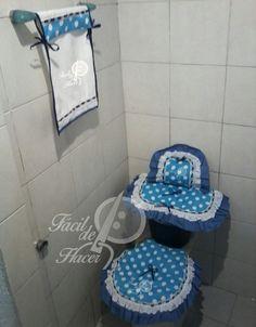 juego de baño en color azul