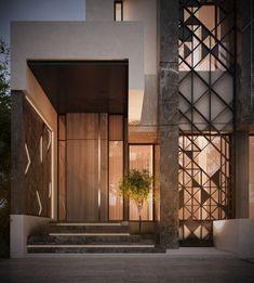 New Exterior Architecture Facade Entrance 42 Ideas # Architecture Design, Facade Design, Exterior Design, Residential Architecture, Villa Design, Entrance Design, House Entrance, Entrance Ideas, Entrance Doors