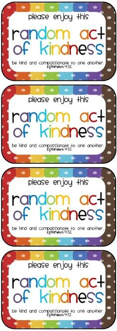During this season many of us look for ways to help others. If you haven't already begun to see posts about random acts of kindness, you surely will! I love