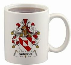 Autenried Coat of Arms Mug / Family Crest 11 ounce cup $15.99