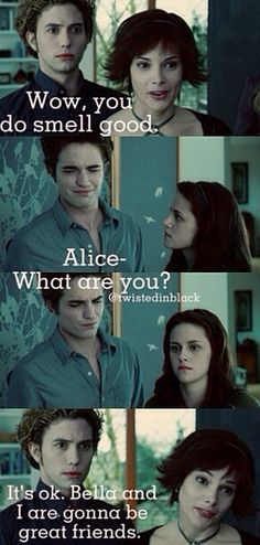 Aside from Bella, Edward, and Renesme, Alice is my favorite Cullen.