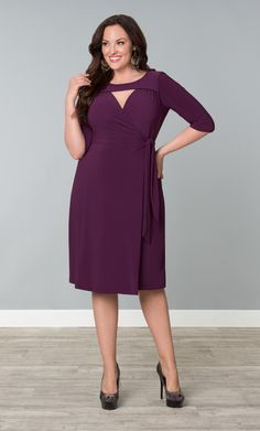 Check out the deal on Lucia Wrap Dress at Kiyonna Clothing