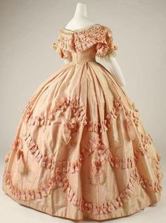 Day dress. French, 1860-1861