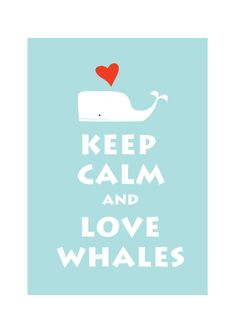 @Alma Jane B I think V needs this...Keep Calm and Love Whale  : Personalized color Wedding Birthday Anniversary Children Decor Kids Decor - BUY 2 Get 1 Free. $10.80, via Etsy.