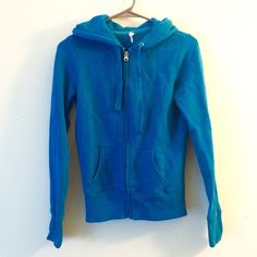 Springy hoodie in Aqua A zip up hoodie for chillier spring days. In a beautiful blue-green color that tends towards an aquamarine. Worn occasionally. The inside is a comfortable sweatshirt material that is softened by a few washes. Bundle and save! Offers welcome. Old Navy Tops Sweatshirts & Hoodies