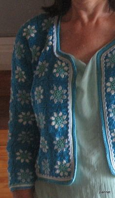 Jacket made of catania cotton. Basic pattern of drops. Granny squares from the book Häkelideeen mit Granny squares Granny Squares