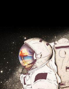Astronaut Art Print by Nostromo