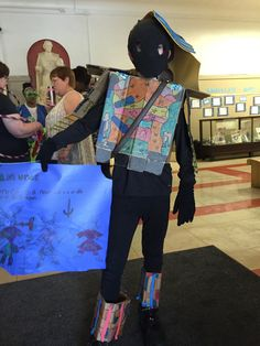 Samurai is the word for this Vocabulary Parade. Note the cardboard boot tops. (Crayon and markers over box board. Vocabulary Parade, Samurai, Markers, Author, Note, Board, Fashion, Moda, Sharpies