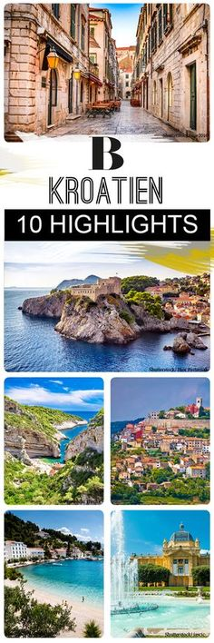 Croatia: The 10 most beautiful vacation spots. With almost kilometers of coastline (including islands), Croatia is Europe's bathing paradise. The 10 most beautiful resorts. Zagreb, Dubrovnik, Vis and Co. Europe Destinations, Places In Europe, Europe Travel Tips, Honeymoon Destinations, Places To See, Honeymoon Night, Honeymoon Tips, Hawaii Honeymoon, Romantic Honeymoon