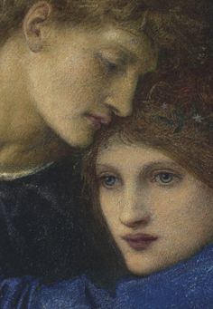 Edward Burne-Jones, Love Among The Ruins (detail), Watercolor Version, c.1872