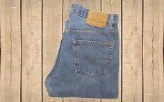 Vintage Levis 501 Jeans USA Made 1990s Stonewash Blue Denim Straight Leg Button Fly W32 L30 by BlackcatsvintageUK on Etsy
