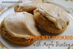 Pumpkin Cookies with Maple Frosting...I had an old recipe similar to this one that I cannot find. If this recipe is anything like my old recipe, then they are to die for! I will have to make these this holiday season to compare.