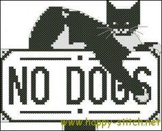 The guardian cat cross stitch pattern
