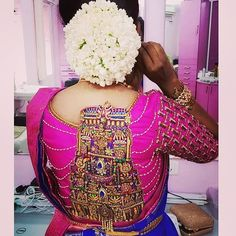 Exclusive wedding saree blouse designs are in-trend these days, here I have complied few of the unique blouse designs for wedding saree. Wedding Saree Blouse Designs, Blouse Neck Designs, Blouse Patterns, Maggam Work Designs, Blouse Models, Beautiful Blouses, Party Wear Sarees, Indian Fashion, Women's Fashion
