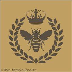 1506 - Royal Bee Wreath Stencil