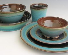 Ceramic Dinnerware Set  Made to Order  by clearmountaincraft, $150.00